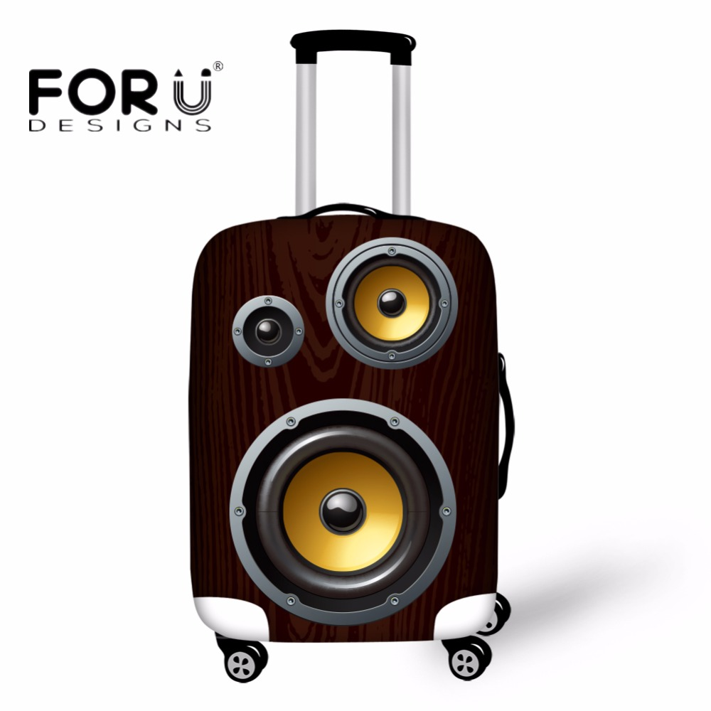 FORUDESIGNS 3D Sound Pattern Luggage Protective Covers Thick Elastic Travel Accessories for 18-30 Inch Case Waterproof Bag Cover