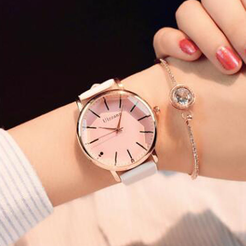 Polygonal dial design women watches luxury fashion dress quartz watch popular brand white ladies leather wristwatch цена