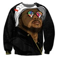 Real USA Size School Boy Q 3D Sublimation print Crewneck Sweatshirts  streetwear plus size