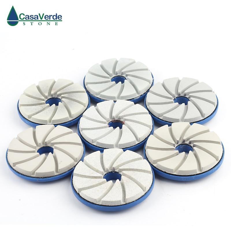 DC-SEGPP01 4 inch diamond edge polishing pads wet polishing wheel for granite concrete marble free shipping standard 5 125mm with 2 5mm flexible 5 inch polishing pads for granite and marble