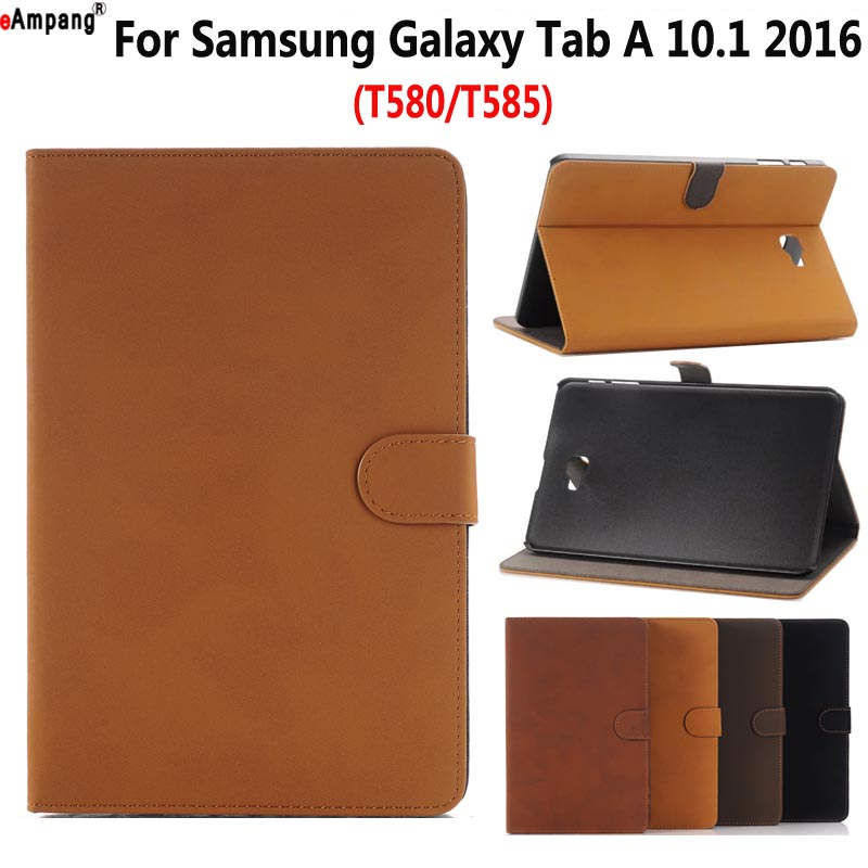 Retro Leather Case for Samsung Galaxy Tab A A6 10.1 2016 T580 T585 SM-T585 Smart Case Cover Funda Tablet Flip Stand Skin Shell все цены