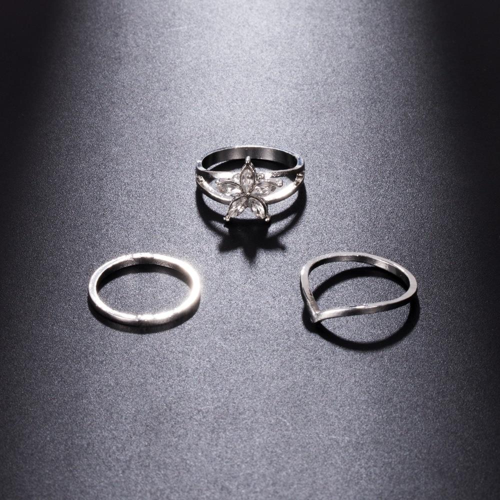 IPARAM 3pcs/set Retro Bohemia Foot Rings Female Carved Flower Tibetan Silver Toe Rings Open Cuff Boho Beach Jewelry