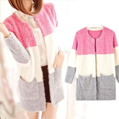 Long Sleeve Mohair Casual Cardigan New Winter Spring autumn Cardigans 2015 Women Fashion Tricotado Sweater Women