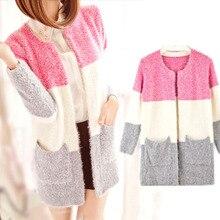 Long Sleeve Mohair Casual Cardigan New Winter Spring autumn Cardigans 2018 Women Fashion Tricotado Sweater Women