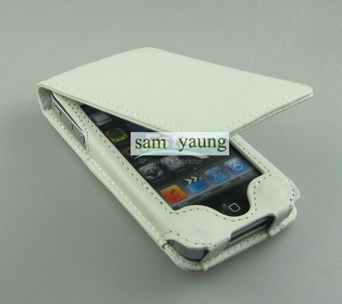 Free shipping via China post Wholesale Mix Color Flip PU Leather Phone Case for iPhone 4G
