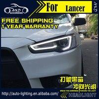 АКД стайлинга автомобилей Глава Лампа для Mitsubishi Lancer фары Lancer 2008 2018 светодиодный фар DRL D2H Hid указатель поворота биксеноновые фары