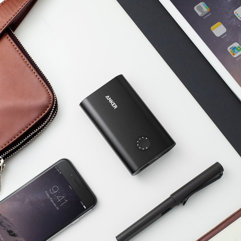 Anker Powercore 10050 Premium Aluminum Portable Battery Charger Powerbank 10000mah Black With Quick Charge 30 Qualcomm 20 Technology In Power Bank From Cellphones