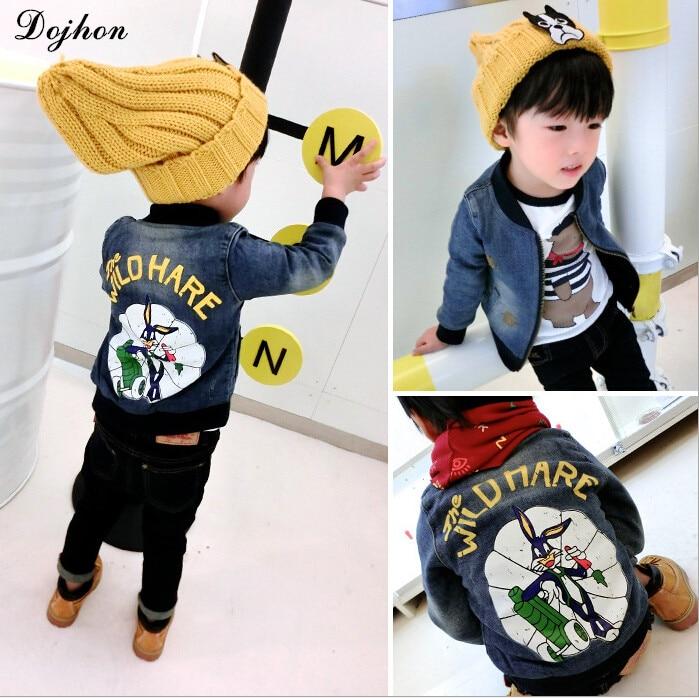 adcbe9ae3 Spring Denim Baby Boys Jacket Bugs Bunny Kids Jeans Baseball Winter ...