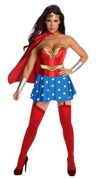 Sexy Fancy Dress Super Girl Hero Woman Adult Halloween Party Costume
