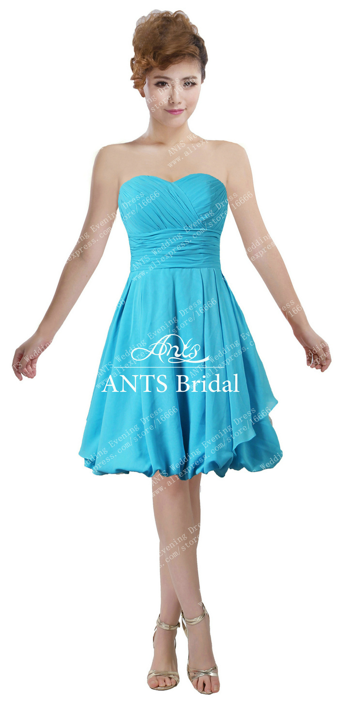 Ants chiffon ruffle sweetheart light blue chiffon pleated short ants chiffon ruffle sweetheart light blue chiffon pleated short new bridesmaid dress bd637 knee length in bridesmaid dresses from weddings events on ombrellifo Gallery