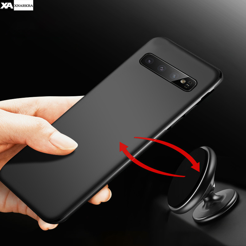 Magnetic Car Holder <font><b>Case</b></font> For <font><b>Samsung</b></font> S10 e S10e Plus Ultra-thin Soft Silicone TPU Phone <font><b>Cases</b></font> Cover For <font><b>Samsung</b></font> <font><b>S9</b></font> S10 Plus Capa image