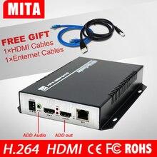 HOT Cyfrowy RTSP H.264/RTMP HDMI + Niezależne Audio Do IP Encoder Streamingu Wideo Na Żywo Strumieniowej