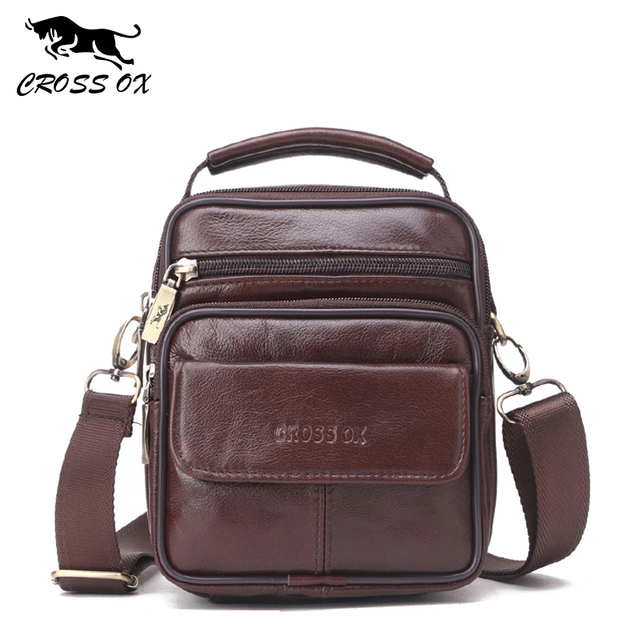 CROSS OX Genuine Leather Handbag Men Shoulder Bag Business Flap Bag Cow Leather Small Bag SL429M