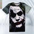 2016 El Más Nuevo el Joker camiseta 3d divertido bromista carácter comics Heath ledger traje de estilo 3d de la camiseta del verano camisetas top de la impresión a todo