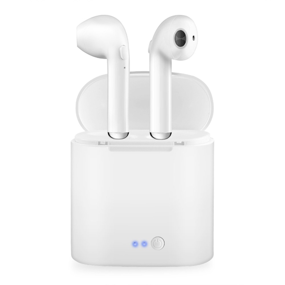 i7 i7S Wireless Bluetooth Earphone With Charging Box Stereo True Earbud Headset Earpiece for iphone Android air pods(China)