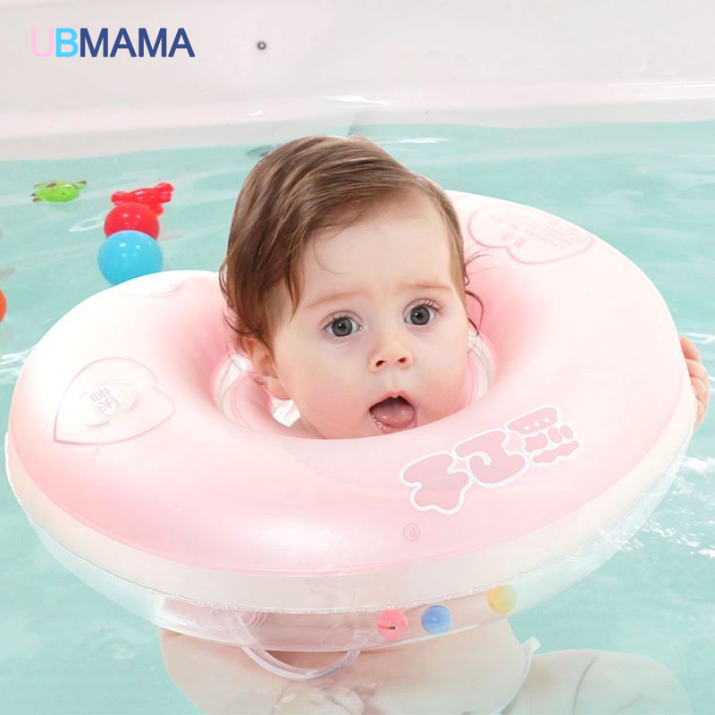 High Quality Safety Frosted Soft Capsule Baby Preschool Children Swimming Bath The Baby Neck Collar Ring For Swimming Pool