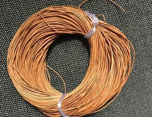 Бесплатная доставка 100 метров 1 мм Шнур из натуральной кожи загар Цвет Круглый Шнур из натуральной кожи, ожерелье и браслет из натуральной ко...