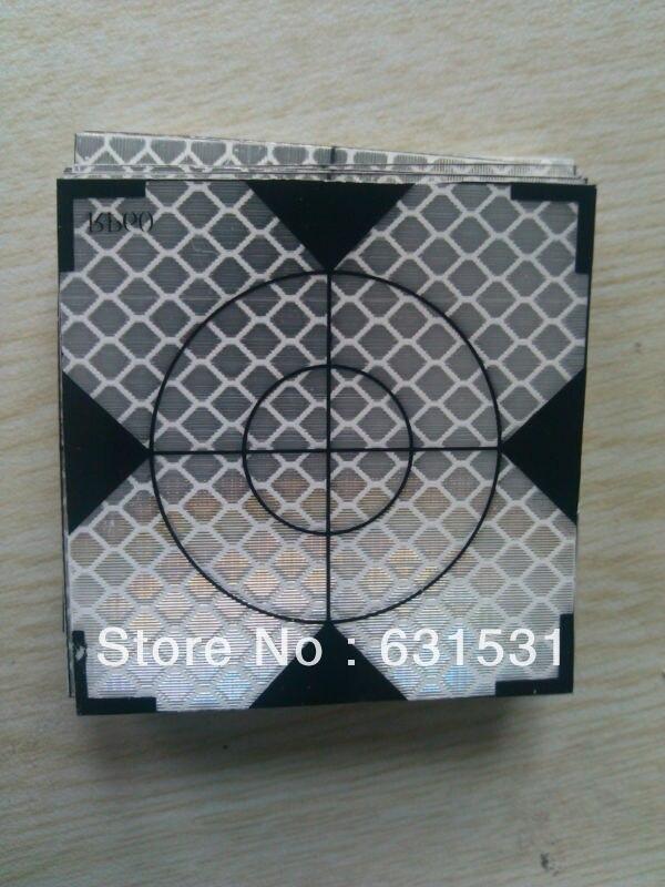 ФОТО 100pcs Reflector Sheet 40 x 40 mm 40x40 Reflective Tape Target Total Station