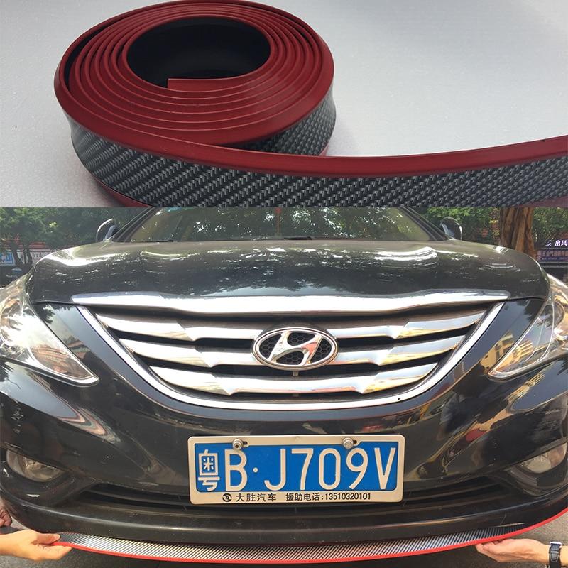Free shipping For hyundai tucson solaris i30 ix35 accent Front Bumper Lip Splitter Chin Spoiler Body Kit Trim