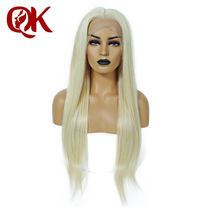 Cabelo QueenKing Pré Depenado Loira Cheia Do Laço peruca 150% densidade 613 reto de seda 100% Brasileira Remy Do Cabelo Humano Da Linha fina