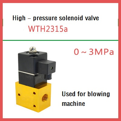 high pressure two way WH2315a WTH2315a blowing machine solenoid valve AC220V