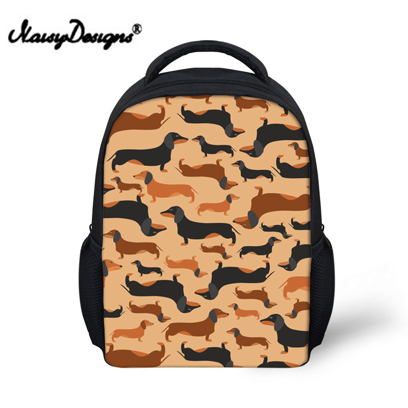 Small School Bags Backpack for Kids Girls Kawaii Kindergarten School Bagpack Boys Doxie Dog Book Bag Baby Back Pack