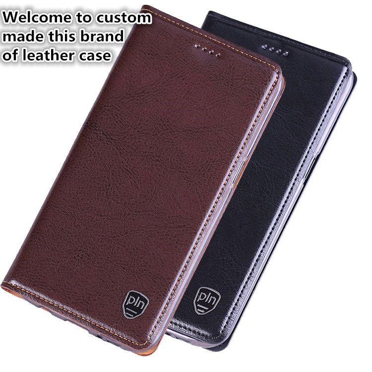 NC14 genuine leather flip cover case for LG Stylo 4 phone