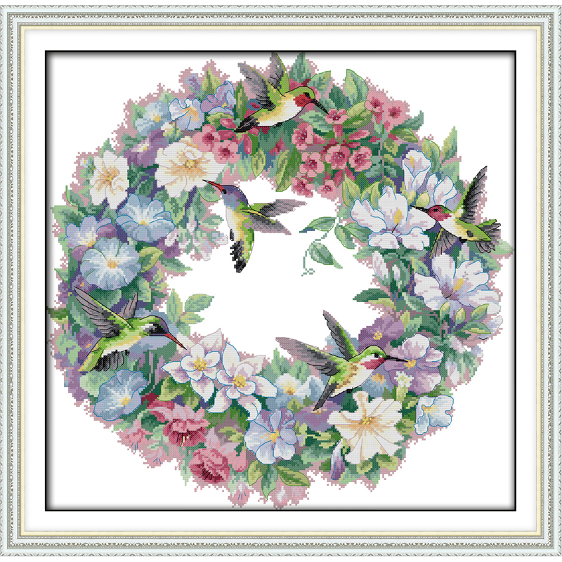 Everlasting love Christmas The art of hummingbirds(2) Chinese cross stitch kits Ecological cotton 11CT New store sales promotion