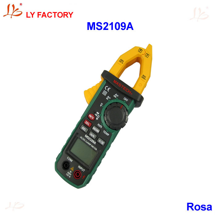 !!! Mastech MS2109A True RMS Auto Range Digital AC DC Clamp Meter 600A Multimeter Tester NCV Test
