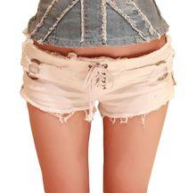 Skinny Zipper Shorts Sexy Delle Donne Lace Up Pole Dance Jeans Bar Shorts Micro Denim Ultra A Vita Bassa Dei Jeans Clubwear Cortos mujer A177