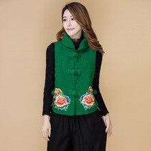 2017 Top Cotton Novelty Solid Chalecos Mujer The Original New Folk Style Cotton, Short Vest Jacket Lapel Sleeveless Dress