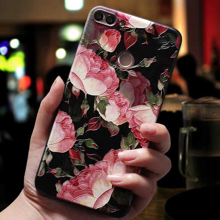 ดอกไม้สีแดงดอกไม้สีดำกรณีสำหรับ Xiao mi mi A2 lite สำหรับ Funda Xio Mi Xiao mi mi A1 mi a1 mi a2 สำหรับสีแดง Mi 6 pro case