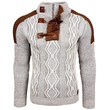 ZOGAA sweater men Knitted Shawl Turtleneck Sweater Pullover Winter Streetwear Long Sleeve Mans Sweaters designer