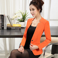 Plus Size 3XL 4XL Blazer Female 2017 Spring And Autumn Suit Jacket Formal Women Blazer Ladies Jacket Slim Candy Color