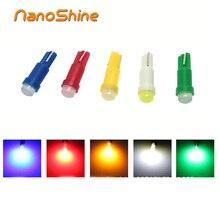 Nanoshine 10 шт. T5 светодиодные панели автомобилей инструмент автомобильных дверей Клин Gauge Чтение лампа 12 В COB SMD стайлинга автомобилей