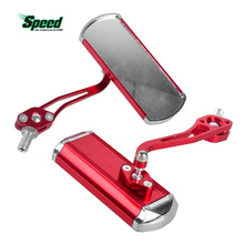 360 Rotate Road Motorcycle Cycling Bike Mirror Aluminum Alloy Bicycle Reflective Safety Handlebar Rearview Mirror Pair