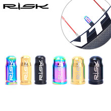 цена Risk Ti MTB Bicycle Schrader Valve Cap MTB Bike Tire Tyre Wheel Titanium Dust American Valve Cover Cap AV Valve Cover 3.08g/pair онлайн в 2017 году