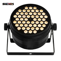 4PCS Aluminum Alloy Black LED Par 54x4W Cool And Warm Power Con Plug DMX 512 Stage Effect Lighting For Disco DJ Nightclub Party