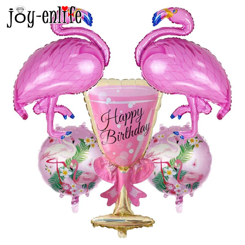 JOY-ENLIFE Flamingo Balloons Foil Balloon Flamingo Party Decoration Summer Pool Beach Party Kids Toys Baby Shower Party Supplies