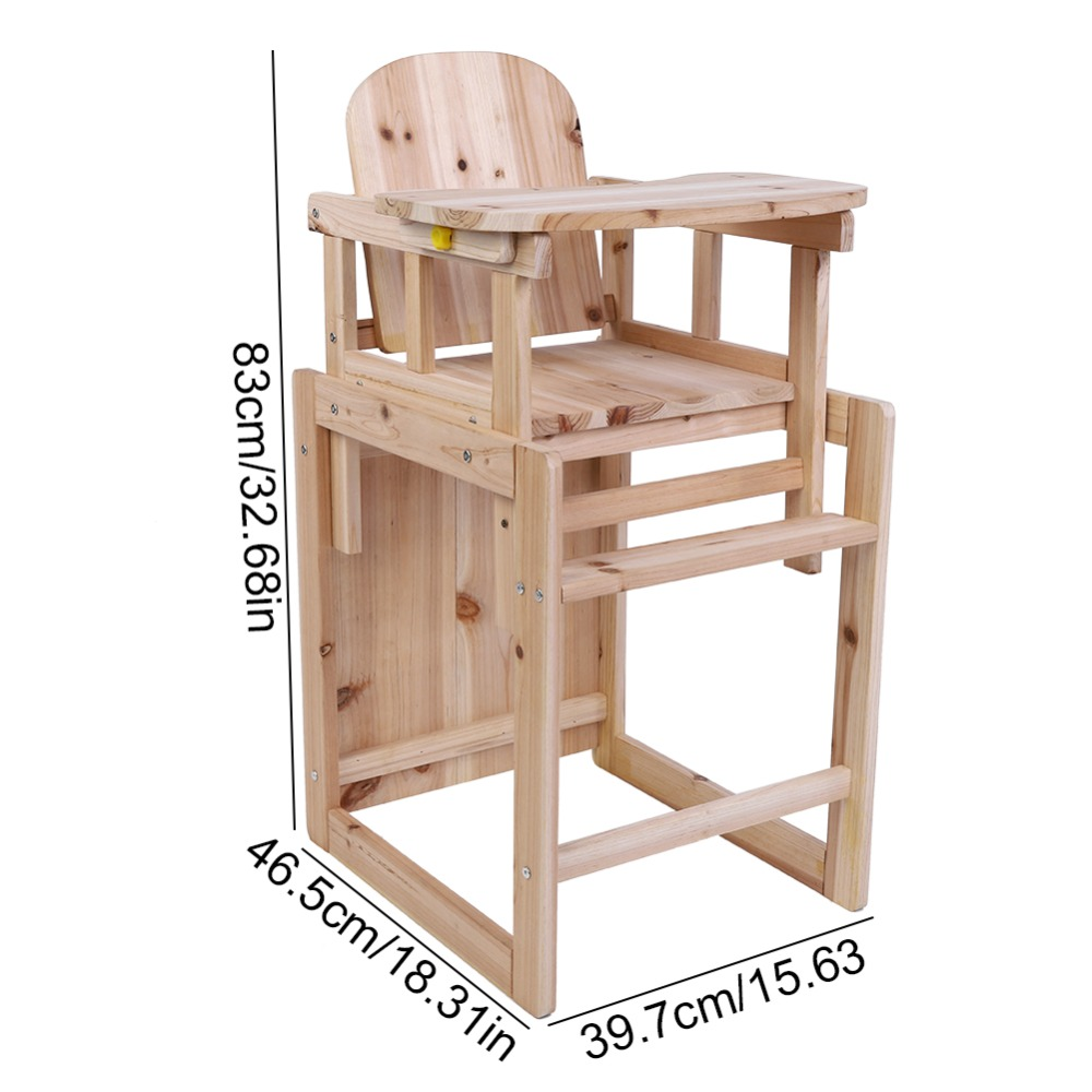 Wooden Baby High Chair Us 20 08 26 Off Baby Feeding Chair Table Set Solid Wooden Detachable Highchair With Adjustable Tray In Dining Chairs From Furniture On
