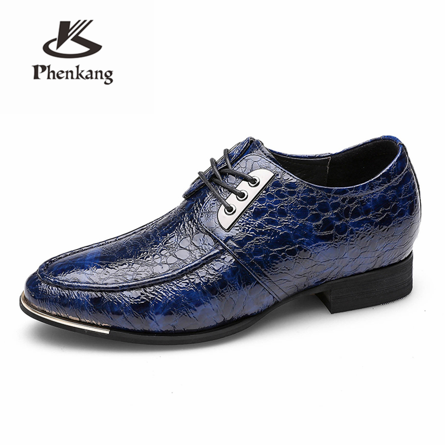 Genuine cow leather increase brogue business Wedding men shoes casual flats shoes vintage sneaker oxford shoes
