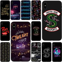 American Hot TV Riverdale Painted Cover blackest TPU Phone Case For iPhone 5 5S 5C SE 6 6plus 7 7plus 8 8plus X XS XR Max(China)