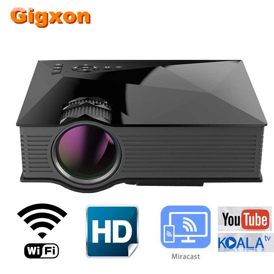 Gigxon UC68 Home Theater  Projector 800*480P DLNA Miracast Airplay LCD Projector Portable Max 1080P Support 2000 lumens HDMI USB(China)