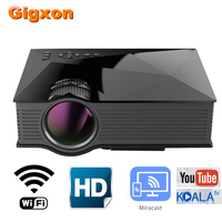 Gigxon UC68 Home Theater Projector 800*480P DLNA Miracast Airplay LCD Projector Portable Max 1080P Support 2000 lumens HDMI USB