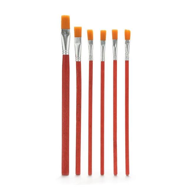 6 piezas de pelo de Nylon acuarela acrílico aceite pintura cepillos estudiante de la Escuela de suministros artista cepillo de pintura de La Venta caliente