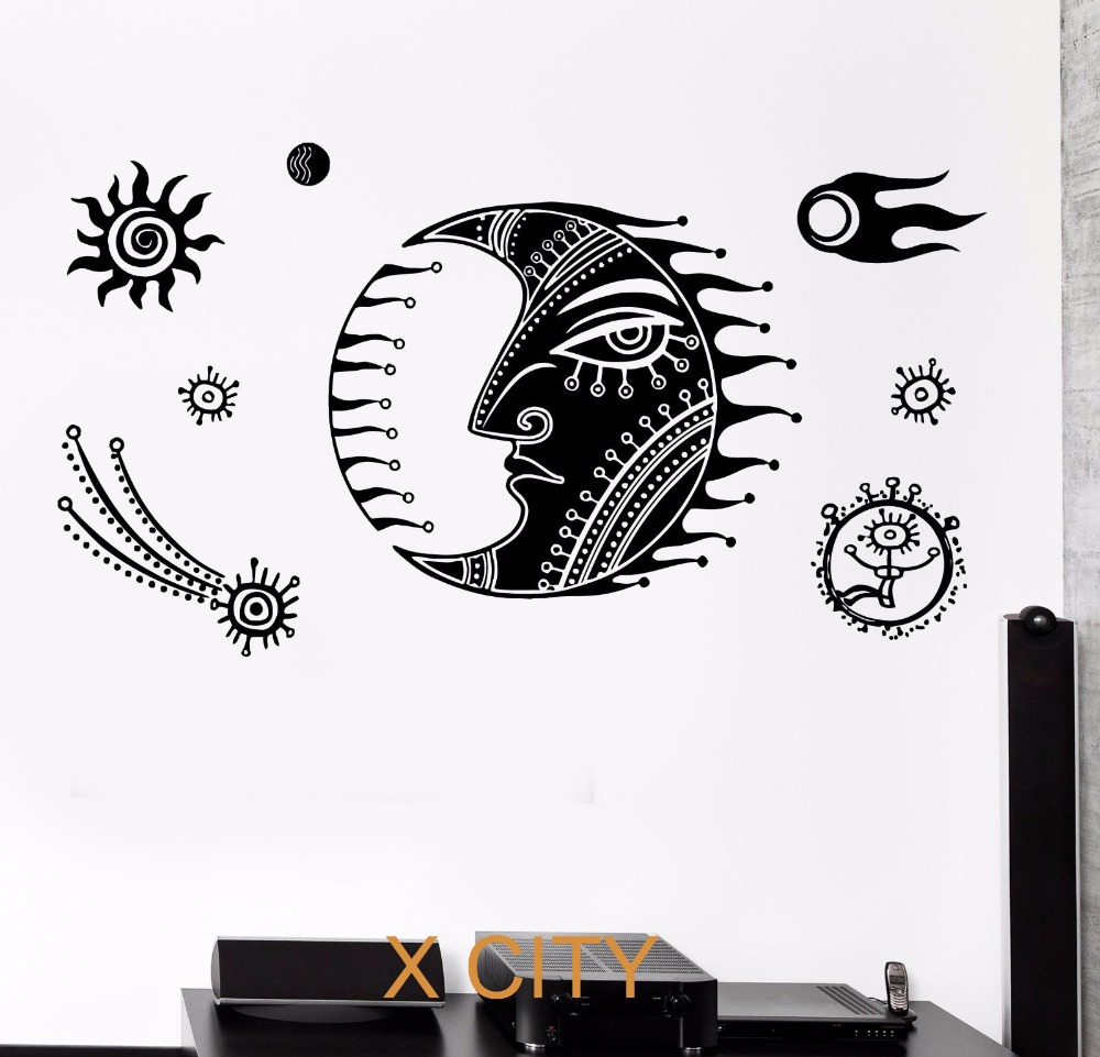 space room decor promotion shop for promotional space room decor cartoon moon star space for children kids bedroom wall art decal sticker removable vinyl transfer stencil mural home room decor