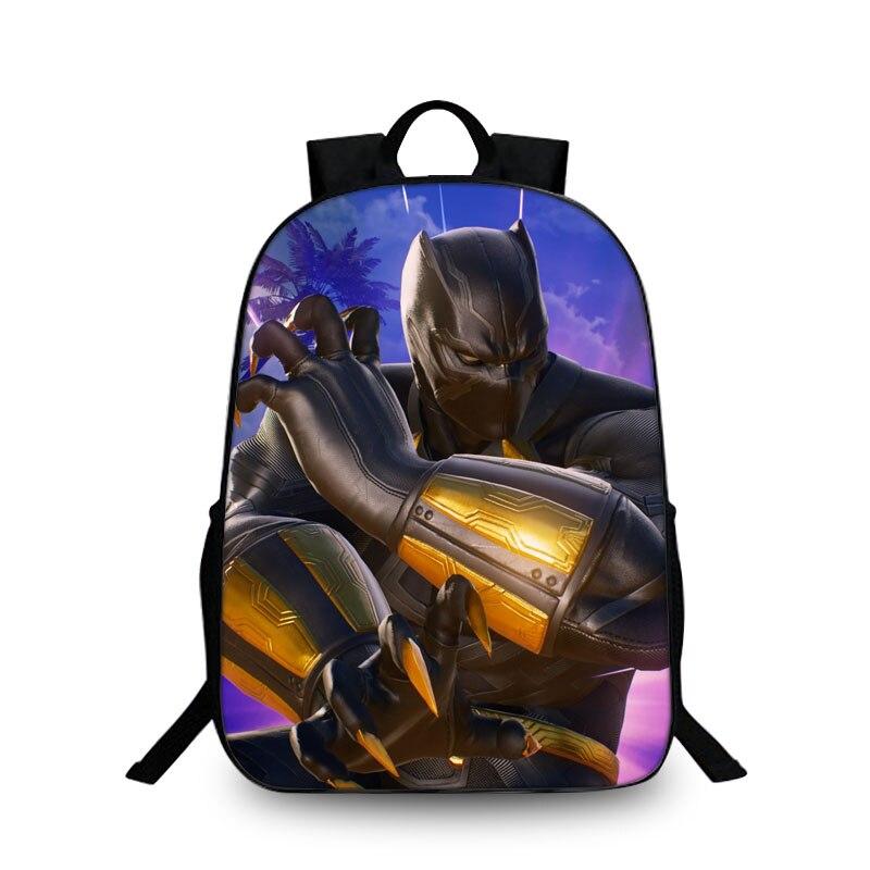 2018 3D Hot Children Black Panther Marvel Backpacks For School Boys Girls  Printed Superhero School Backpack For Kids Students 7cefc52e9aa47