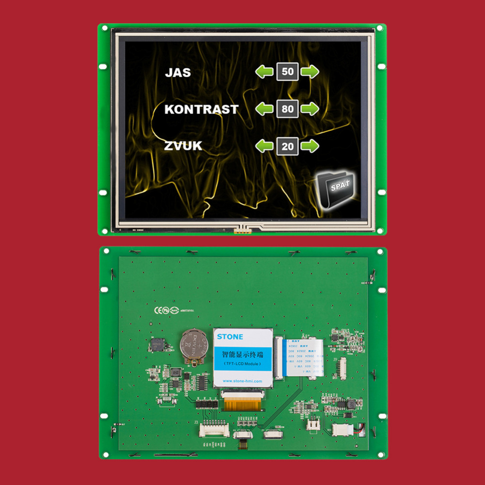 8 inch Touch Screen HMI 800x600 for Industrial Control Panel with 3 Year Warranty