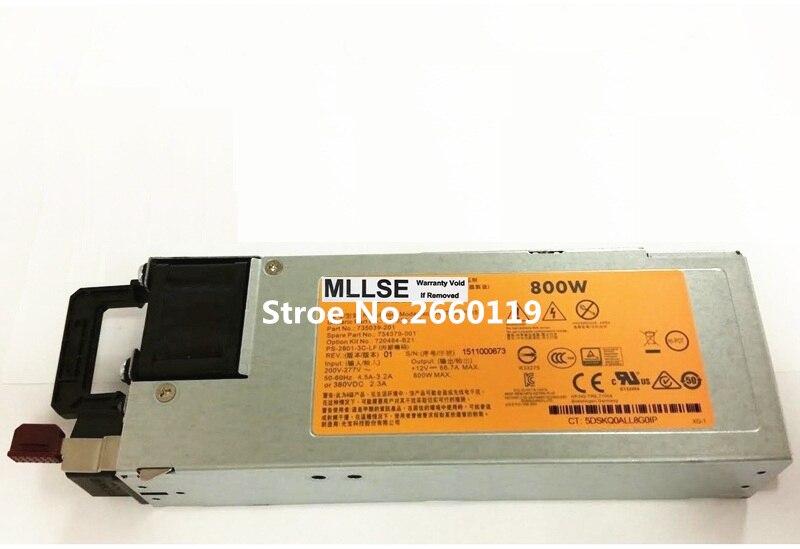 Серверный блок питания для G9 720484-B21 754379-001 735039-201 735037-001 800 Вт, полностью протестирован