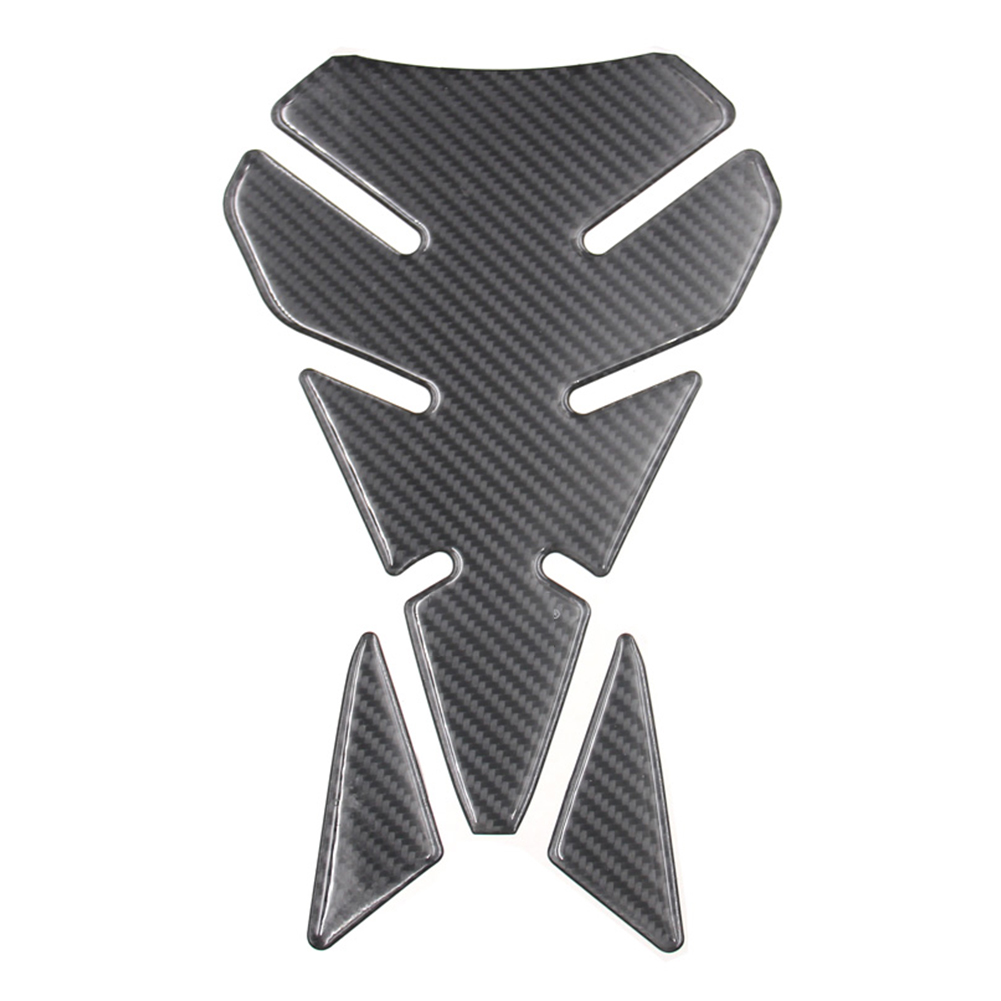 Conscientious Long Lasting Segmented Adhesive Fishbone Carbon Effect Resin Tank Pad Universal Durable Protective Sticker Motorcycle Decorative